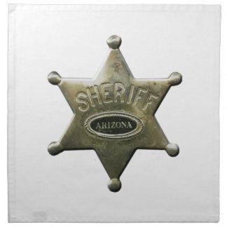 Sheriff Arizona Printed Napkin