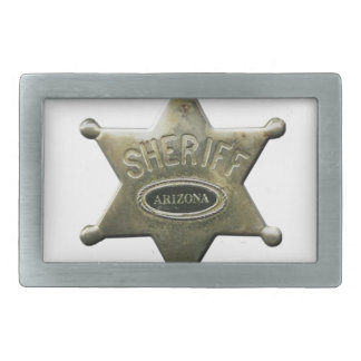 Sheriff Arizona Rectangular Belt Buckle