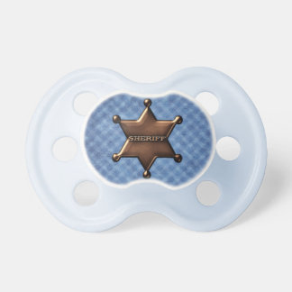 Sheriff Badge Baby Pacifier