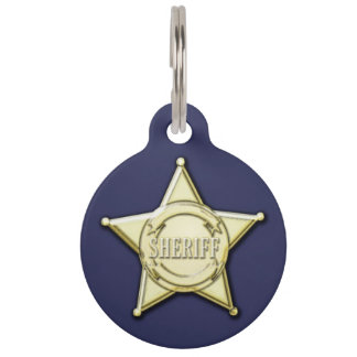 Sheriff Badge Pet ID Tag