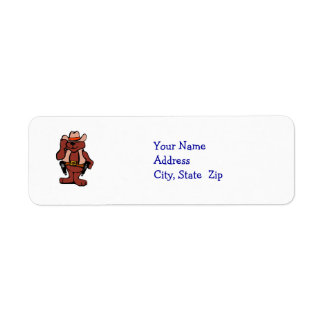 Sheriff Bear - Address Labels