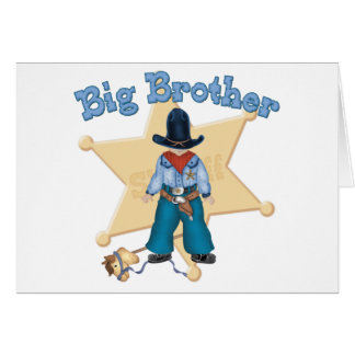 Sheriff Big Brother Note Card