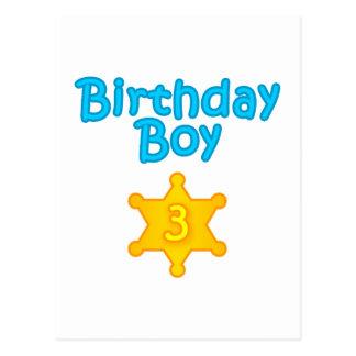 Sheriff Birthday Boy 3 Postcard