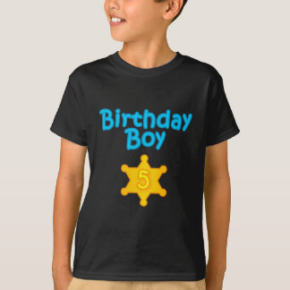 Sheriff Birthday Boy 5 T-Shirt