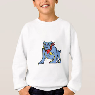 Sheriff Bulldog Standing Guard Mono Line Art Sweatshirt