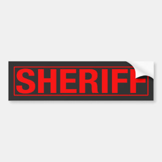 """SHERIFF"" BUMPER STICKER"