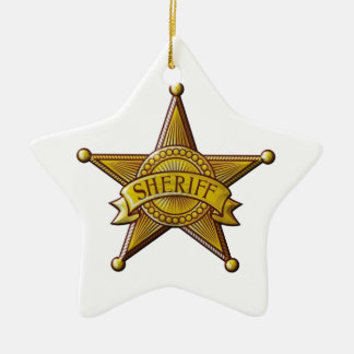 Sheriff Ceramic Ornament