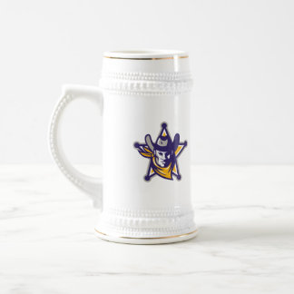 Sheriff Cowboy Star Badge Retro Beer Stein