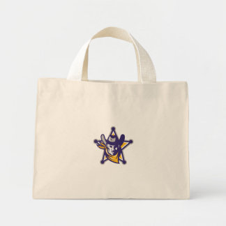 Sheriff Cowboy Star Badge Retro Mini Tote Bag
