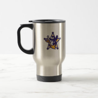 Sheriff Cowboy Star Badge Retro Travel Mug