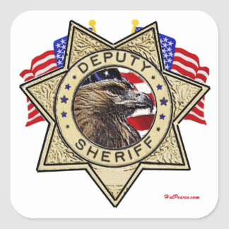 Sheriff Deputy Badge Square Sticker