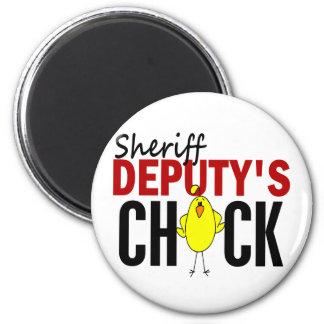 Sheriff Deputy's Chick 2 Inch Round Magnet