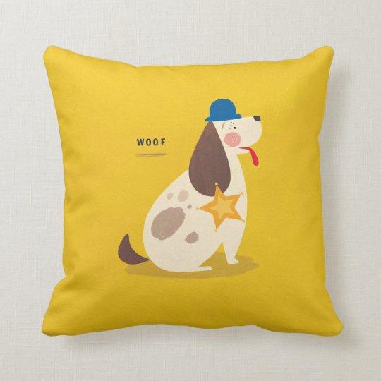 Sheriff Dog! Throw Pillow
