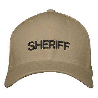 SHERIFF EMBROIDERED HAT