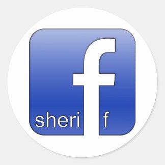 Sheriff Facebook Logo Unique Gift Popular Template Round Sticker