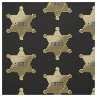 Sheriff golden star fabric
