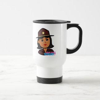 Sheriff Head - Dark Travel Mug
