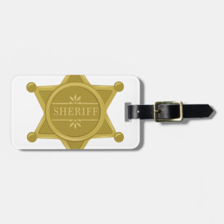 Sheriff Luggage Tag