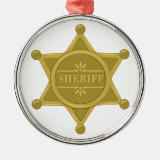 Sheriff Metal Ornament
