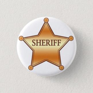 Sheriff plaque 1 inch round button
