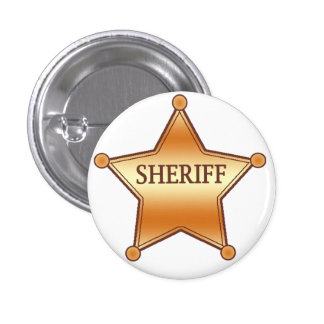 Sheriff plaque 1 inch round button