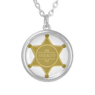 Sheriff Silver Plated Necklace