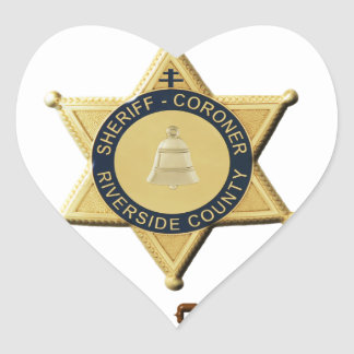 Sheriff Sniff Heart Sticker
