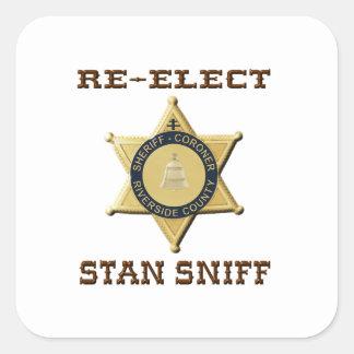 Sheriff Sniff Square Sticker