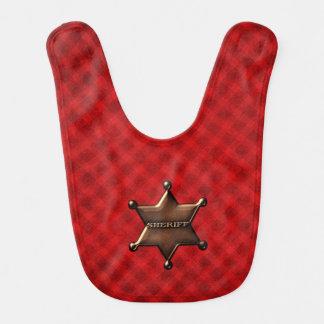 Sheriff Star Badge Baby Bib