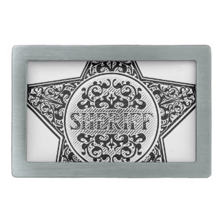 Sheriff Star Badge Engraved Style Belt Buckle