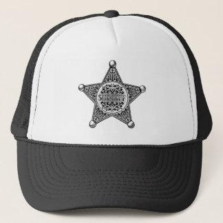 Sheriff Star Badge Engraved Style Trucker Hat
