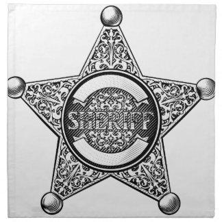 Sheriff Star Badge Napkin