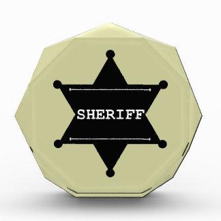 Sheriff Star - Black & White
