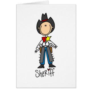 Sheriff Stick Figure Card