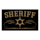 Sheriff Western Style Poster