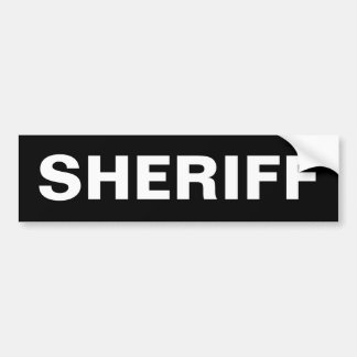 SHERIFF - White Logo Bumper Sticker