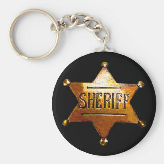 Sheriff's Badge Black Keychain (in 3 styles)