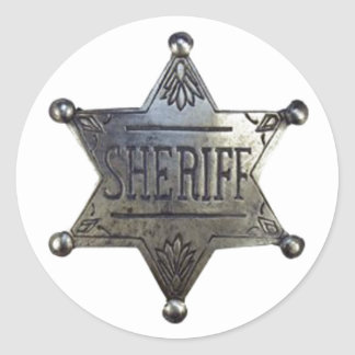 Sheriff's Badge Classic Round Sticker