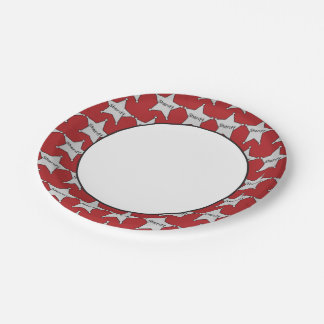 Sheriff's badge party paper plate 7 inch paper plate