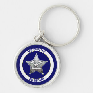 Sheriff's Badge Universal Custom Keychain