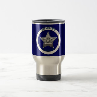 Sheriff's Badge Universal Custom Travel Mug