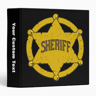 Sheriffs Star Badge Vinyl Binder