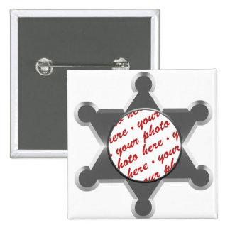 Sheriff's Tin Star Photo Frame Template Pin