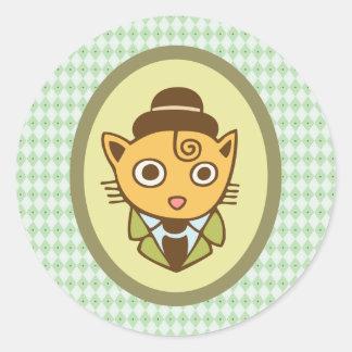 Sherlock Classic Round Sticker