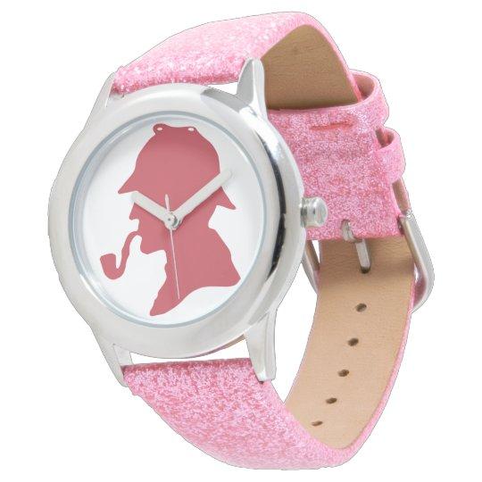 Sherlock Holmes Silhouette Wrist Watch