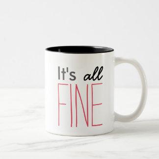 Sherlock It's All Fine Mug