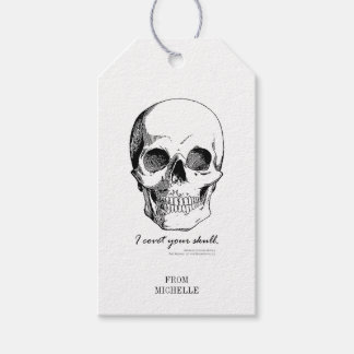 Sherlock Quote I Covet Your Skull Gothic Gift Tags