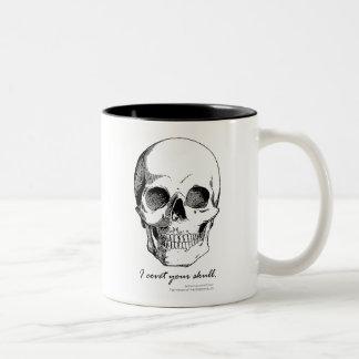 Sherlock Quote I Covet Your Skull Gothic Mug