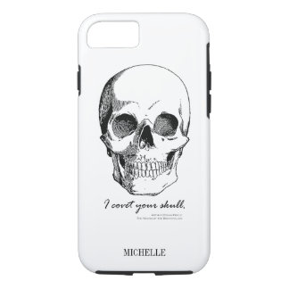 Sherlock Quote I Covet Your Skull iPhone 8/7 Case