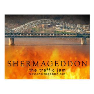 Shermageddon Flame Postcard